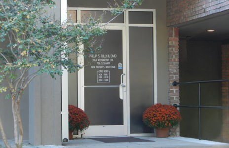Dental office front door